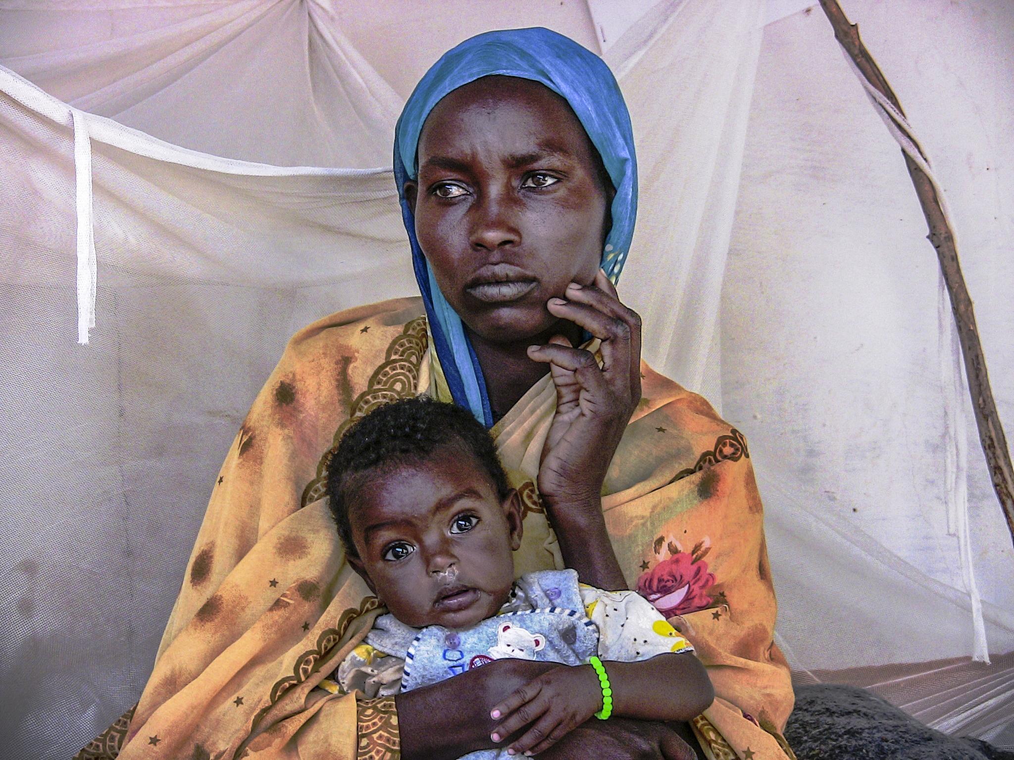 Hundratusentals pa flykt i darfur
